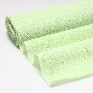 Thick Crepe paper, Light green, 50cm x 45cm, 75 gsm, 1 sheet, (CR221)